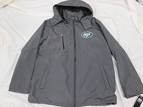 New York JetsメンズフルZip XL ( XL )刺繍ジャケットwith Removable Hood AJET 33 XL