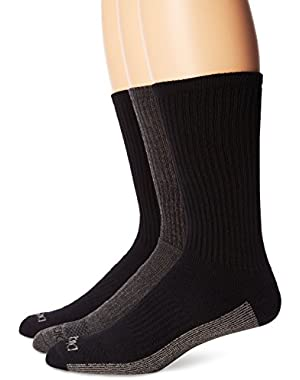 Men's 3 Pack Dri-Tech Moisture Control Heather Assortment Crew Socks