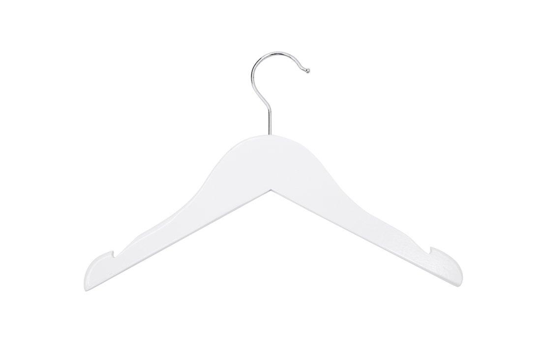 Newtech Display HWT-V12/WHT Children's Top Wood Hanger, White, 12'' (Pack of 100)