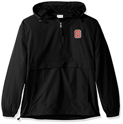 Jacket Nc Wolfpack State - Champion NCAA Men's Half Zip Front Pocket Packable Jacket NC State Wolfpack Medium
