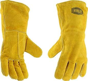 ironcat 9040 Insulated ligeramente seleccione soldadura de cuero guantes, grande (Pack de 12 pares