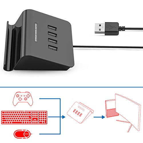 [2019 Upgrade Version] IFYOO KMAX1 Keyboard and Mouse Adapter Converter for PS4 / Xbox One/Switch / PS3 - Compatible with PUBG, H1Z1 and Other Shooting Games (Best First Person Shooter Xbox One 2019)