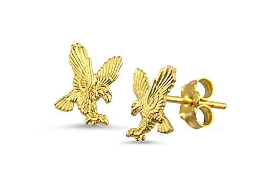 (10k Yellow Gold Eagle Stud Earrings)