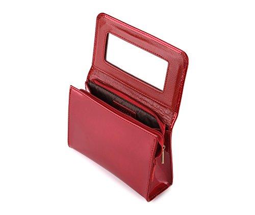 Sacchetto Cosmetico Wittchen   Colore: Rosso   Vernice   Altezza (cm): 11 X Larghezza (cm): 16   Collezione: Verona   25-3-117-3