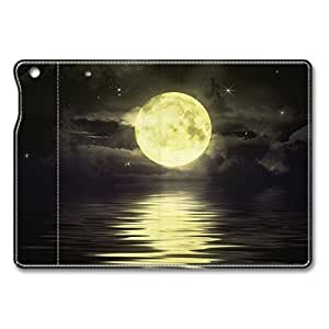 Brain114 iPad Mini Case - Fashion Design Leather iPad Mini Stand Case Cover Moon Over Water Leather Folding Case Cover for iPad Air Mini