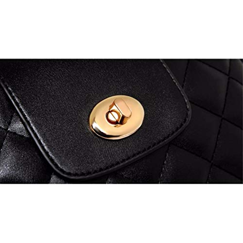 Black de Billetera Compras de Shoulder Cartera Largo Single Bag Multi Bolsillo Bolso Hombro Solo Bolso Bwx6x7q4O