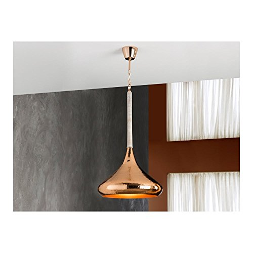 Schuller Spain 535278I4L Moroccan Copper Hanging Ceiling Light Pendant moroccan light pendant white patina 1 Light Dining Room, Living Room, Bedroom Hammered Finish | ideas4lighting by Schuller