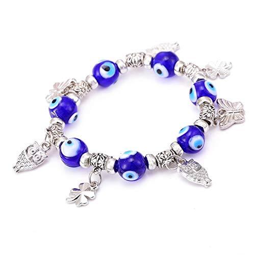 - Value-Smart-Toys - sale European bracelet metal new&flower charm magic captivate allure Eyes Bracelet Handmade Beads Bracelet
