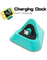 Charging Dock for Nintendo Switch Lite, Charger for Nintendo Switch Lite and Nintendo Switch - Turquoise