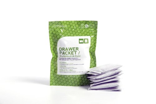 All Natural Drawer Packet Charcoal Bamboo Deodorizer + Dehumidifier