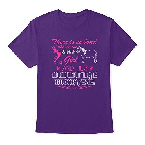Bond Like Girl and Miniature Horse 4XL - Purple Tshirt - Hanes Tagless Tee ()