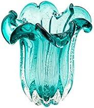 Vaso De Vidro Italy Tiffany 18x21cm Lyor Tiffany