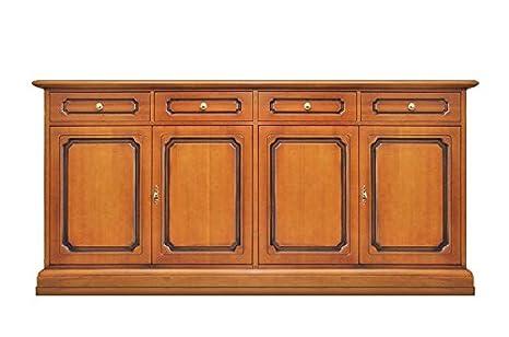 Credenza cucina/soggiorno/sala da pranzo in legno stile classico ...