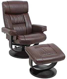 Global Furniture 8426 Leather Recliner With Ottoman