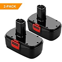 2 Pack Flylinktech 19.2V 2.0Ah Replacement Battery for Craftsman 11376,130279003,130279005,1323903,1323517,315.114480,315.114852,315.101540,C3 11375,15.11448, 315.115410