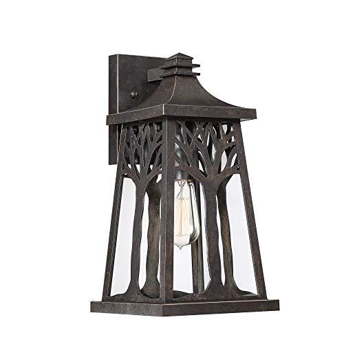 - Quoizel WWD8408IB Wildwood Outdoor Wall Sconce Lighting, 1-Light, 100 Watt, Imperial Bronze (15