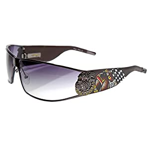 Ed Hardy La Dog EHS 018 Gradient Sunglasses, Grey