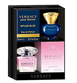 Amazoncom Versace Bright Crystal And Dylan Blue Pour Femme Mini