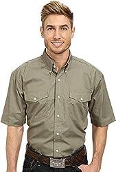 Roper Men's 9792 Solid Poplin Red Button-up Shirt MD