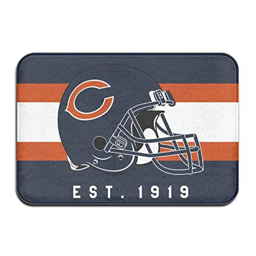 Jacoci Custom Chicago Bears Doormats Non Slip Heavy Floor Door Mats Rugs Bahroom Decor Standard Size 15.7 X 23.6 ()
