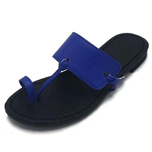 Blue Playa para Sandalias Número de Mujer de con y un Pulsera Cierre Zapatos Campos Mujer con de de Sandalia Zapatillas Mujer Base Plana Gran y Un IISqF4