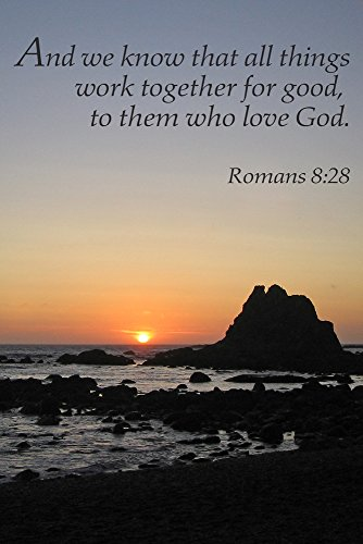 Romans 8:28 – Inspirational (9×12 Art Print, Wall Decor Travel Poster)