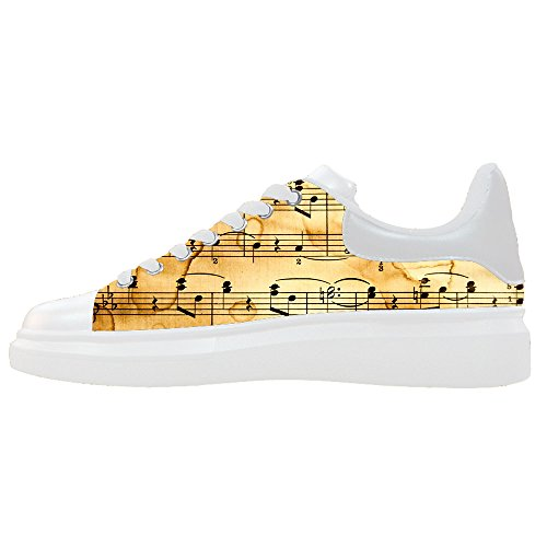 Custom Women's Shoes Music and Guitar New Sneaker Canvas Thick Bottom