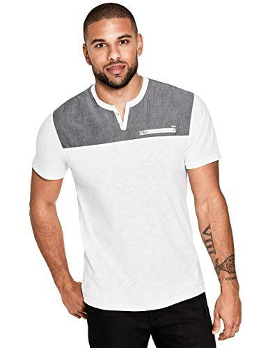(GUESS Factory Men's Arnold Contrast-Panel Tee)