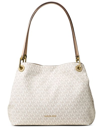 Michael Kors Raven Large Shoulder Tote (Signature Vanilla) by Michael Kors