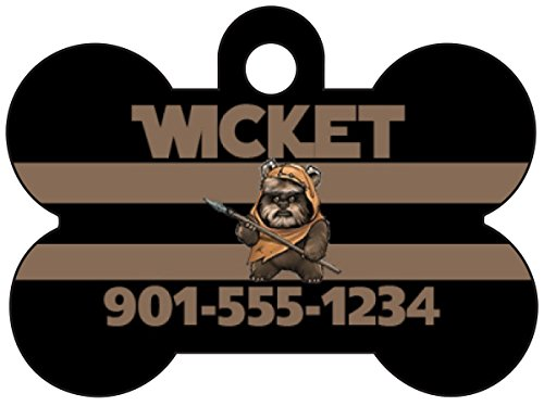 Ewok Disney Star Wars Pet Id Tag For Dogs & Cats Personalized w/ Name & Number (Ewok Puppy)