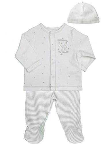 Unisex Baby / Infant White Welcome World Take Me Home Set by Little Me - White - 6 Mths / 12-16 Lbs / 24-27