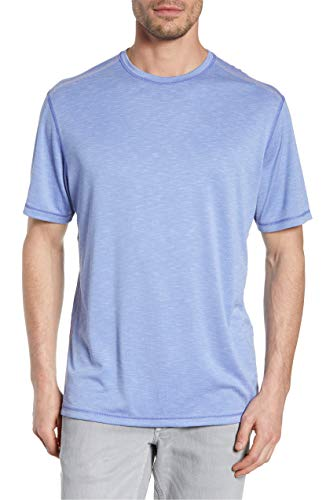 Glass Reversible - Tommy Bahama Mens Reversible Flip Tide Tee (XX-Large, Glass Bead Blue)