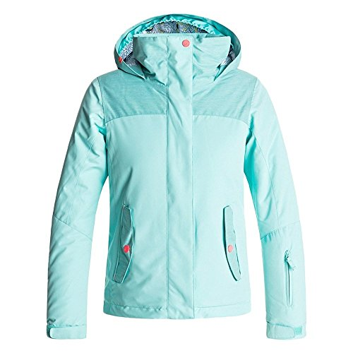 Roxy Big Girls' Jetty Solid Snow Jacket, Aruba Blue, 14/XL by Roxy