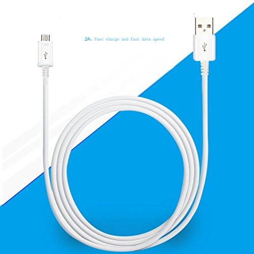 Micro USB CableiBarbe 3Pack 6FT extended Premium sizeable pace 20 USB to Micro USB Charging Cord for Android gadgets extremely fast Charger for Samsung Galaxy S7 S6 S5 EdgeNote 5 4 3HTCLGNexusWhite USB Cables