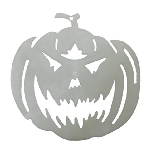 [Bolayu Halloween Pumpkin Accessories Glow in Dark Pumpkin Door Window Decorations] (Deluxe Smoke Mask)