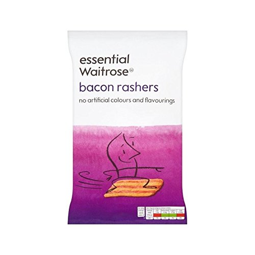Rashers Bacon essential Waitrose 100g - Pack of -