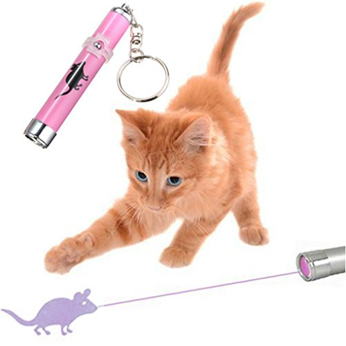 [Creative and Funny Pet Cat Toys LED Laser Pointer light Pen With Bright Animation Mouse Random] (Creative One Of A Kind Costumes)