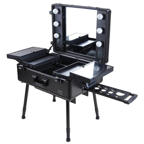 Cosmetic-Rolling-Studio-Black-Makeup-Case-with-Lighted-Mirror-for-Traveling-Profesionals-by-AV-Prime-Inc