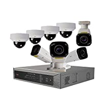 Revo America Ultra Plus Commercial Grade 16CH 4K H.265 NVR, 4 TB, Remote Access, 4x Motorized Lens IR Bullet & 4x Motorized Lens Vandal Dome Cameras, Indoor/Outdoor, True WDR, 4 Megapixel, 4x Optical Zoom