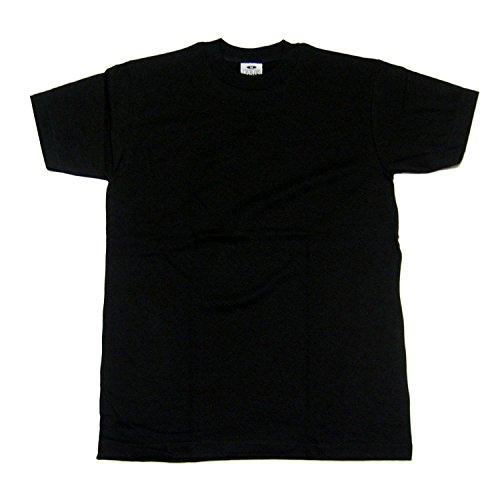 Pro Club Heavyweight Crew Neck T-shirt Black 5XL - T Shirts Black Pro