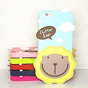 LIMME Cream Lion Pattern Silicone Cover for iPhone 6 (Assorted Colors) , Rose