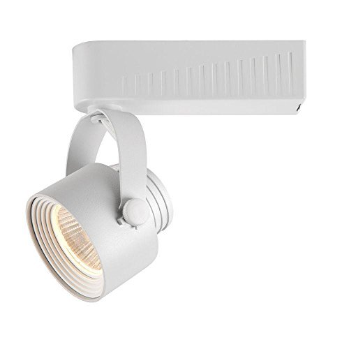 White Gimbal Track Head - Hampton Bay White Dimmable LED Gimbal Track Lighting Fixture