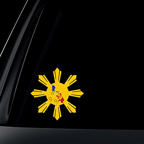 - Philippine Flag Sun Star Island Car Decal / Stickers