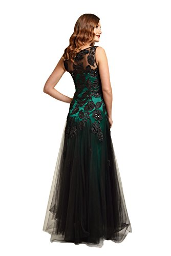2012506 Damen Grün Kleid Dynasty Emerald Abendkleid Black nbsp;Langes AEnwSW