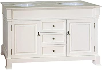 Bellaterra Home 205060 D Cr 60 Inch Double Sink Vanity Wood Cream White Amazon Com