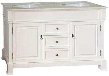 Bellaterra Home 205060-D-CR 60-Inch Double Sink Vanity, Wood ...