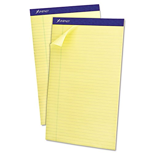 - Ampad 20280 Recycled Writing Pads, 8 1/2 x 14, Canary, 50 Sheets, Dozen