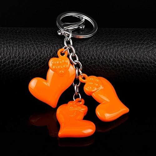 Heart Keychain Colorful Shoe Socks Keyring Pendant Key Chain For Women Girls Charm Handbag Purse Bags Key Ring FITIONS