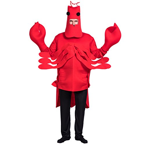 EraSpooky Men's Halloween Lobster Costume(Red, OneSize) -