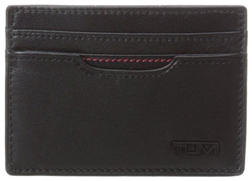 Tumi Men's Delta Money Clip Card Holder, Black, One Size (Tumi Money Clip Wallet)